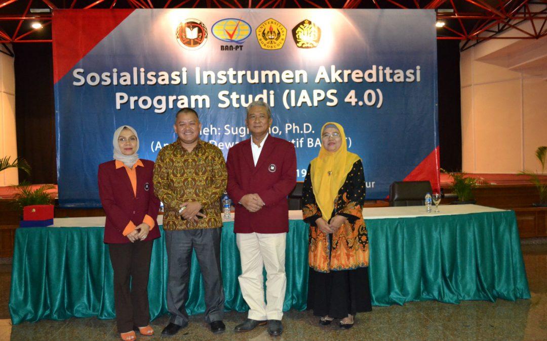 Sosialisasi Instrumen Akreditasi Program Studi (IAPS 4.0)