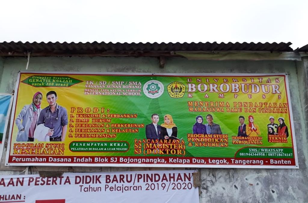 Hati – Hati Penipuan Mengatasnamakan Universitas Borobudur