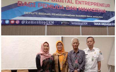 """Pelatihan Digital Entrepreneur Bagi Pemuda dan Mahasiswa """"Oleh: Deputi bidang pengembangan SDM"""""""