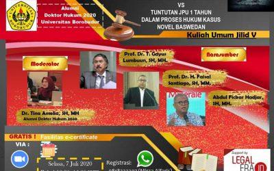 Webinar Keadilan Yang Dipertaruhkan vs Tuntutan JPU 1 tahun Dalam Proses Hukum Kasus Novel Baswedan