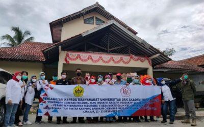 9 Fakultas Universitas Borobudur Gelar Bakti Sosial Di Desa Antajaya – Cariu. Bogor